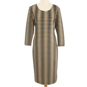 Beige by eci Black & Tan Textured Sheath Dress